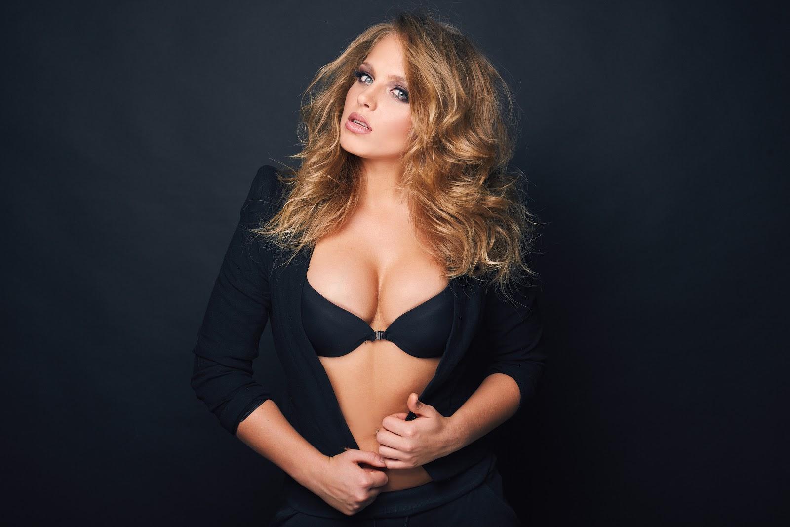 portrait of slavonic Russian beautiful blond sexy woman