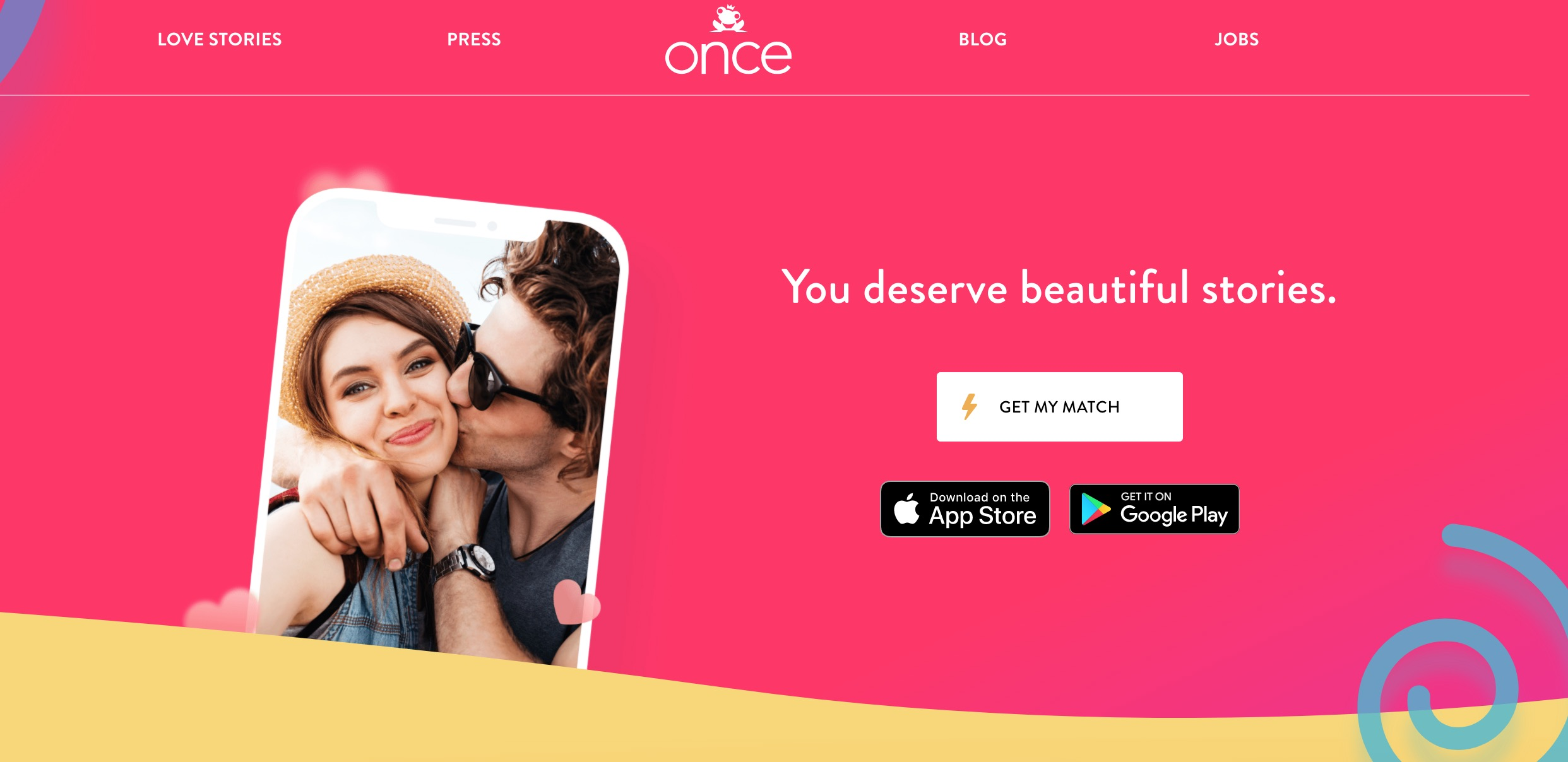 Once main page